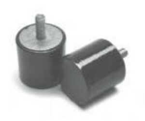 4 Pack: Simple Small Rubber Bump Stops - Male Thread M4 - M8