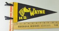 VTG Felt Pennant Historical Rare 1950s Wayne Michigan High School Zebra