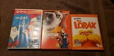 3 DVD MOVIES Lot Dr Seuss DVD Kid's Videos Movies The Lorax Cat in Hat Horton