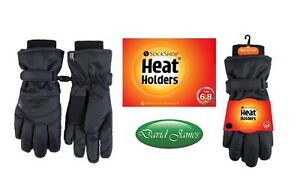 Ladies Heat Holders Heatweaver Thermal Quality Performance Gloves TOG 6.8 Black