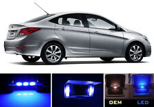 Ultra Blue Vanity / Sun visor LED light Bulbs for Hyundai Accent (2 Pcs)