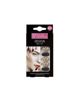 New Salon Perfect Nails Medium Black Leopard