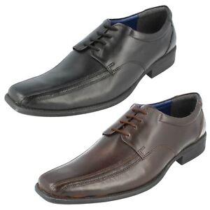 Bruno Donnari Herren Schwarz Oder Braunes Leder Schuhe Nn 907 (R4B)