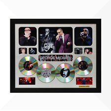 George Michael Signed & Framed Memorabilia - 4CD - Silver - Limited Edition