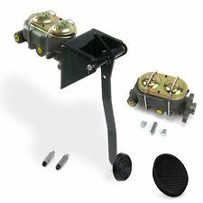 Universal FW Manual Brake Pedal kit Disk/Drum3in Blk Pad rat cylinder rod