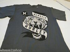 Hurley charcoal Tiger Fury T shirt Men's small S classic fit surf skate TEE logo