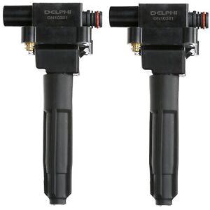Set of 2 Delphi Direct Ignition Coils for Mercedes W202 R170 C230 SLK230 2.3L L4