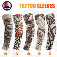 Compression Tattoos Cooling Arm Sleeves Cover Basketball Golf UV Sun Protection
