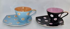 Pair of Vintage/Retro Japanese Tennis Sets / Hostess Sets - Tea Cups & Saucers