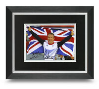 Sir Chris Hoy Signed 10x8 Framed Photo Display Olympic Cycling Memorabilia + COA