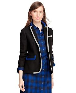 New Luxury Brooks Brothers set: women Jacket + Tartan Shirt Dress 12US 44EU $900