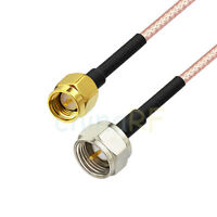 8inch RG316 F-Type male plug to SMA male RF Pigtail Coaxial Jumper Cable 20cm