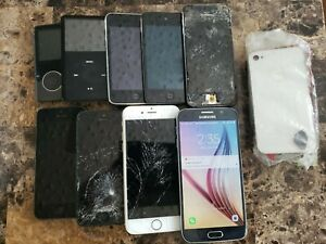 Damaged Iphone 5 5S 6 Cellphone Apple Ipod Touch Lot Samsung Galaxy S6 Phone