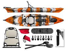Vibe Sea Ghost 130 13' Fishing Kayak + Paddle - Orange Camo