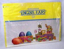 Easter AVON Pop Out Train Engine Eggs Ears NIP 1980s Dicut Decor Vintage Kids