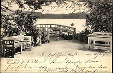 1907 Stempel EUTIN auf AK Ugleisee Angelbrücke Angeln Brücke alte Postkarte