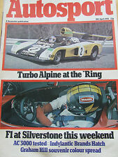 AUTOSPORT MAGAZINE APR 1976 TURBO ALPINE AT THE RING F1 SILVERSTONE AC3000 GRAHA