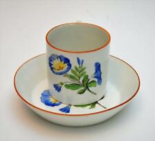 Atq 1770s MEISSEN Crossed Swords w Star Mark MORNING GLORY Set Cup&Saucer Chip#2