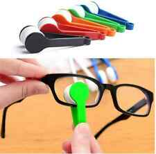 Mini Portable Glasses Cleaning Cloth Screen Camera Lens Microfiber Brush Eyeglas