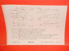 1968 FORD CUSTOM GALAXIE 500 500XL CONVERTIBLE LTD WAGON FRAME DIMENSION CHART