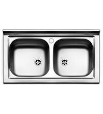 Lavello  cucina  appoggio  Apell  mod. Pisa  in  acciaio Inox,  misura cm.90x50,