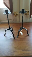 NEW!!! Primitve Colonial Vintage Wrought Iron Black Taper Candle Stick Holders