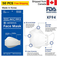 [50PACK-Made in Korea] Breathable KF 94 FACE MASK Covering/Nose Wire/Safety Mask