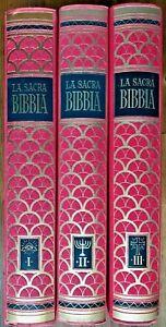 LA SACRA BIBBIA  3 VOLUMI 1954-56 EDITRICE BOLIS