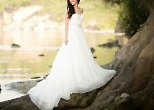 Essense Of Australia D1702 Ivory Bridal Dress Size 8