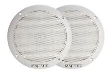 "Majestic SPK60 6"" Ultra Slim Marine White Speaker Pair - Free shipping"