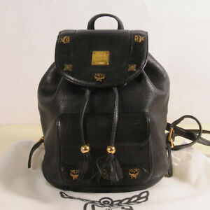 MCM Small Leather Backpack Authenticity + Dust Bag