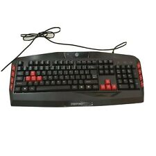 Cyberpower PC Multimedia Gaming USB Wired Keyboard Black & Red