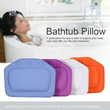 Bath Pillow Spa Cushioned Spongy Relaxing Bathtub Cushion 3 Suction Cup Us-