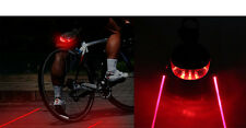 2 Laser + 5 LED Cycling Red Bike Taillight Safety Warning Flashing Alarm Bicycle