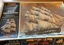 Vintage 1979 Monogram Uss Constitution Old Ironsides 3703 Model Ship Kit Unbuilt