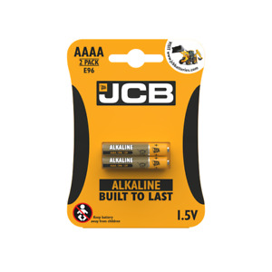 2 x JCB AAAA SUPER Alkaline Batteries 1.5V MN2500 E96 MX2500 LR61 LR8D425
