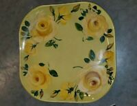 """RUSSEL WRIGHT SERVING PLATTER PLATE 13"""" CHARTREUSE STEUBENVILLE HAND PAINTED"""