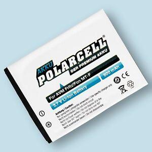 PolarCell Akku für AVM FritzFon MT-F M2 C4 C5 312BAT006 800mAh Batterie Accu