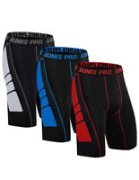 3 Pack Men's Compression Shorts Quick Dry Gym Athletic Short Tights Sports Pants