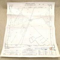 1956 Vintage Mappa Di Occidente Sussex Lewes Quattro Lords Burgh Buckland Banca