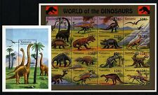 Tanzania Sc 1250-52 NH issue of 1994  - Dinosaurs - 2minisheets + 1S/S