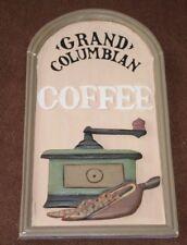 Coffee sign Coffee gift Coffee wall hanging Coffee wall sign Grand Columbian