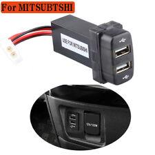12V 2.1A Dual USB 2 Port Charger Socket Adapter Lighter for Mitsubishi Cars