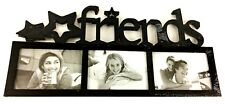 """FRIENDS"" 3-OPENING PHOTO FRAME Black for 3.5"" x 5.5"" Photos Factory Sealed"
