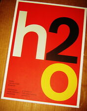H2O Rock Concert Poster Swiss Punk Graphic Pop Art Obsessions Nj 10X14 Joyce