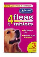 Johnson's 4 Fleas Tablets, Large Dog 11kg+, 3 Pack