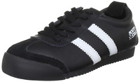 RRP-£40 Ladies Girls Boys Running Trainers Lace Up Suede Sport Shoes Black Sz4 5