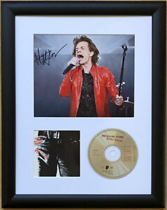 Mick Jagger / Rolling Stones / Signed Photo / Autograph / Framed / COA
