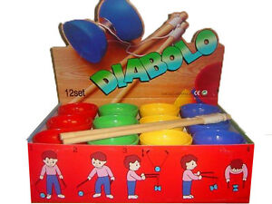 NEW* Diabolo - one per sale only - assorted colours - good quality wooden handle