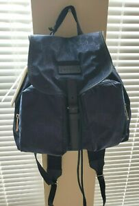 ♡NWT♡ GUCCI Womens GG Logo Guccissima Navy Nylon Backpack